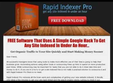 Download Rapid Indexer Pro Software Free