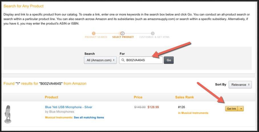 Amazon Affiliate ASIN