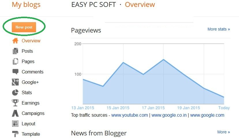 Blogger Dashboard