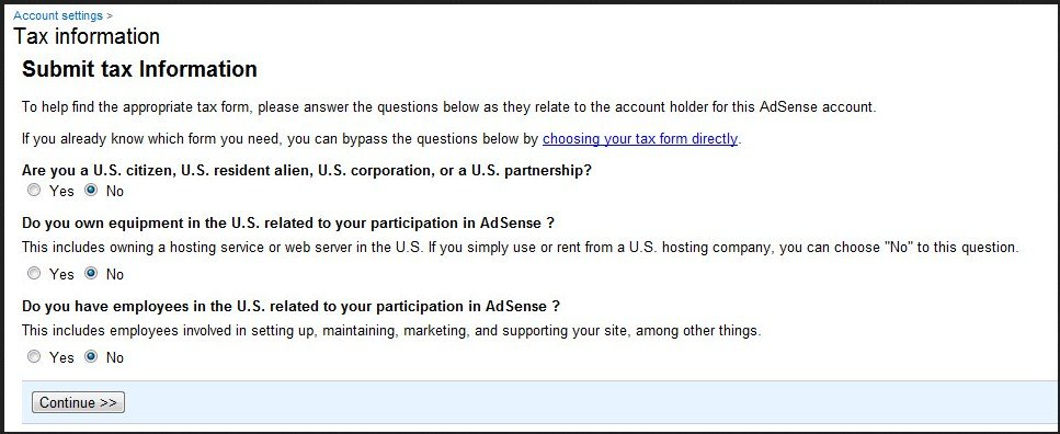 Indian Publisher Tax Info Adsense