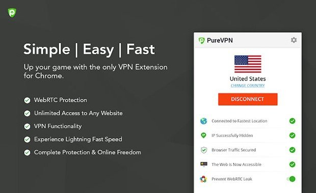 Pure VPN for for Chrome Browser