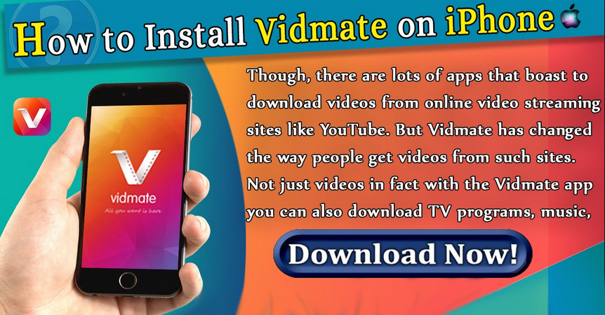 Vidmate for iPhone - How to install vidmate on iPhone, iPad & IOS Devices