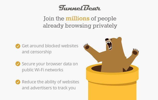 tunnel bear vpn free