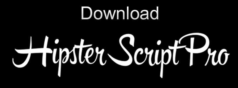 Download Hipster Script Font Free – Hipster Script Pro Font