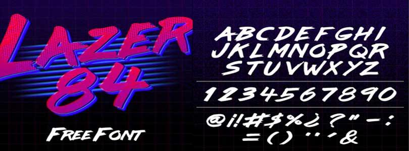 Download Lazer 84 Font Free – Laser 84 retro font