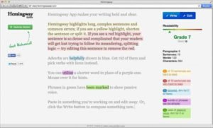 Hemingway Editor Proofreading Tool for Writers