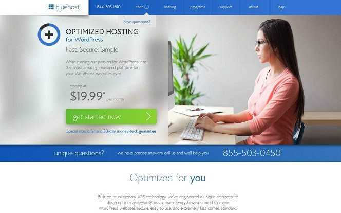 Optimized Hosting for WordPress - Fast, Secure, Simple - Bluehost