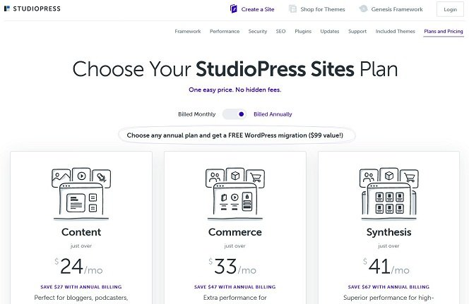 Synthesis Managed WordPress Hosting by StudioPress
