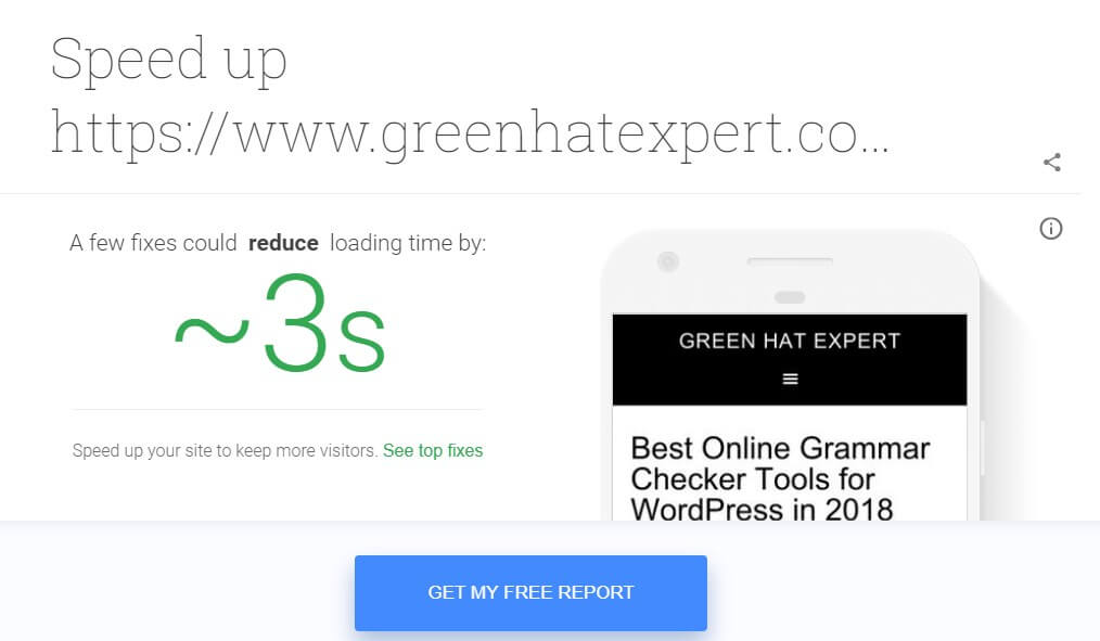 fixes to speed up your web page