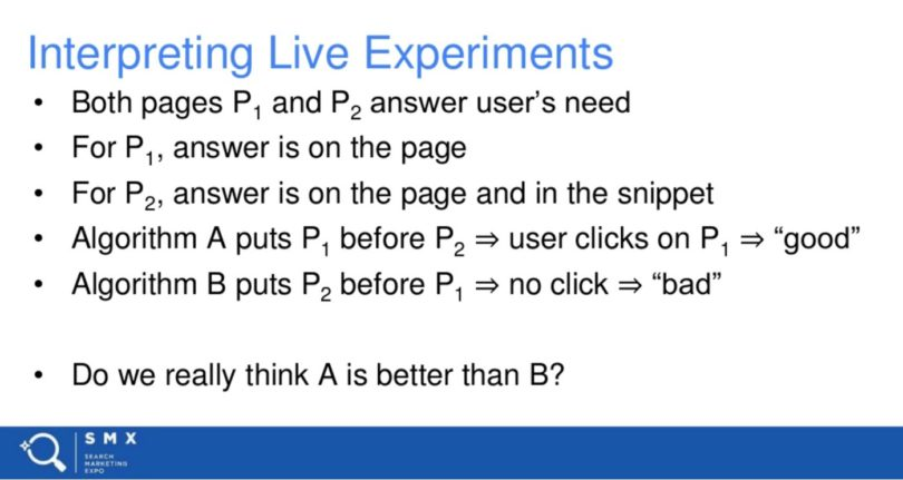 interpreting live experiments