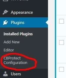 Clickbomb plugin in dashboard