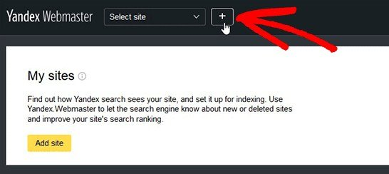 add your site in Yandex