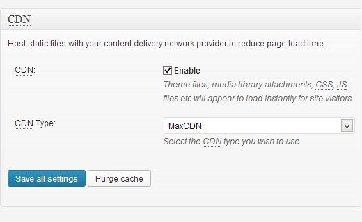 enable max cdn w3 total cache