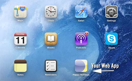 adding home screen icon to iphone
