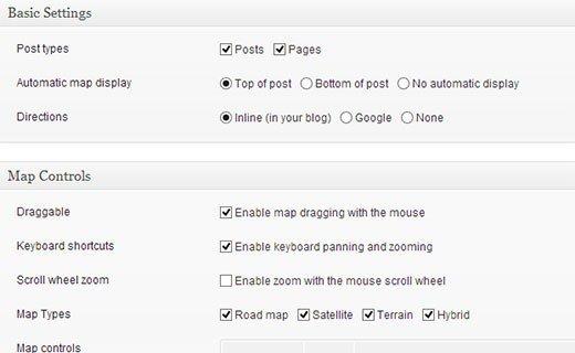 mappress settings