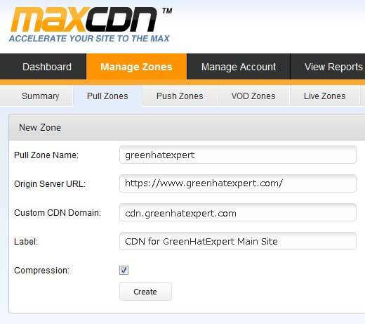 max cdn pull zone details