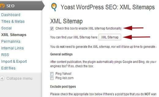 enable sitemaps wp seo