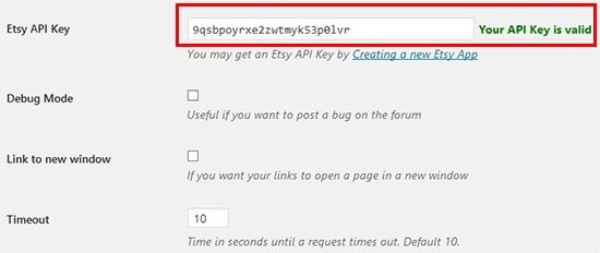 add valid etsy api key