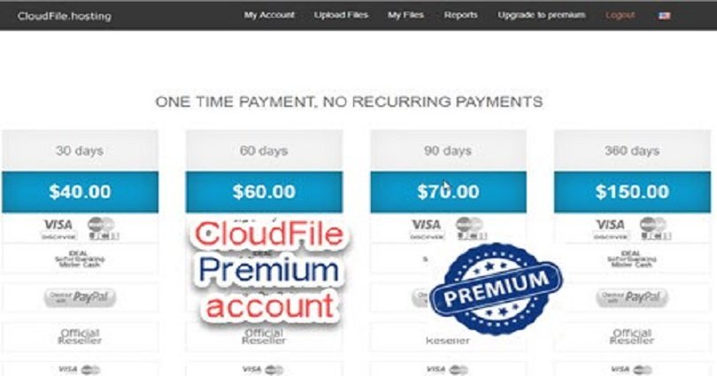Cloudfile premium account and link Generator 2019